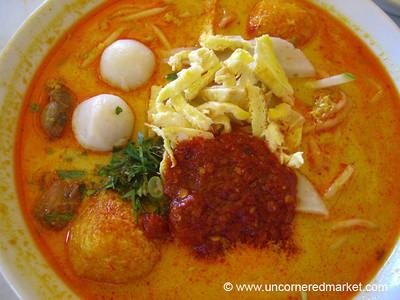 Malaysian Food, Laksa Lemak Nyonya - Melaka, Malaysia