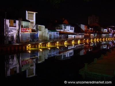 Melaka Riverfront at Night - Malaysia
