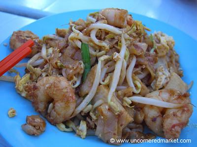 Malaysian Food, Char Kway Teow: Fried Flat Noodles - Penang, Malaysia