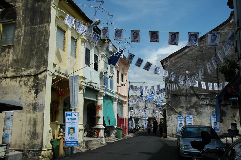 Penang Streets During Election Season - Malaysia