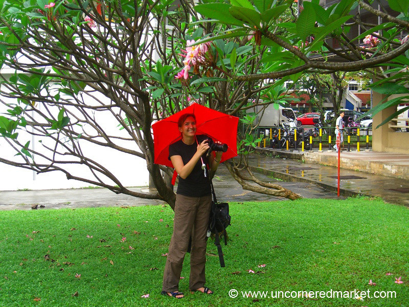 Audrey Under Umbrella - Singapore