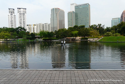 The lake at Petronas Twin Towers, also known as KLCC (KL City Central).
