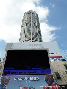 Komtar tower from the ground.