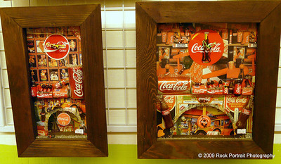 Coca Cola clocks. AJ - they're pretty affordable if you want them sent over for your Dad...