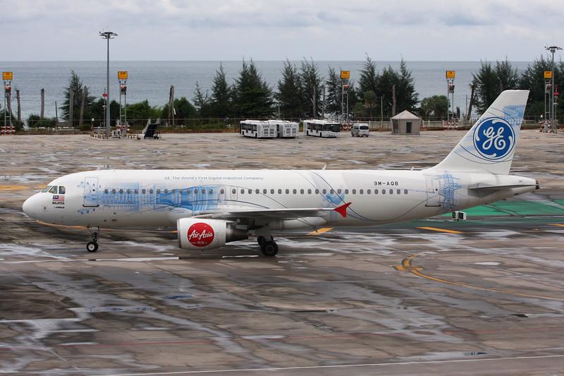 "9M-AQB Airbus A320-216 ""AirAsia"" c/n 4458 Phuket/VTSP/HKT 02-12-16 ""General Electric"""