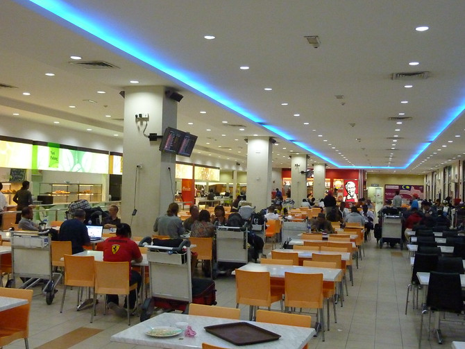 Food court at KL LCCT