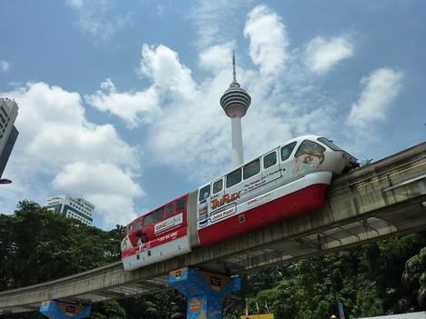 Monorail and KL Tower, Kuala Lumpur - Malaysia