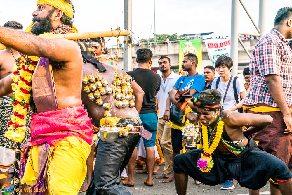 As the light came, the crowds grew. Thaipusam 2017