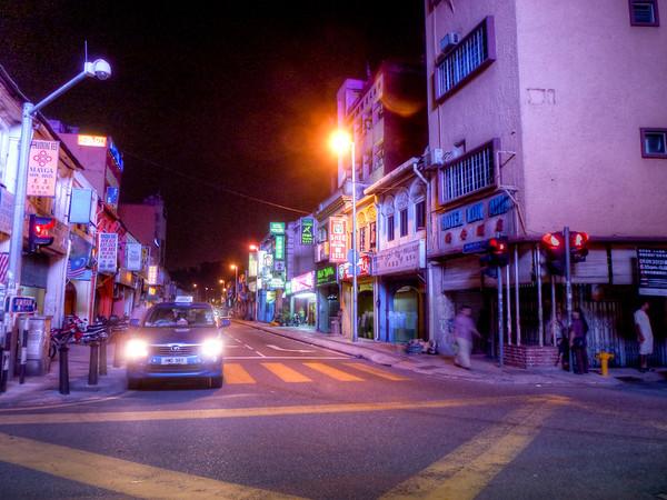 kuala lumpur streets at night