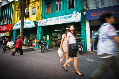 Colorful and intriguing capture in this street life scene at Kuala Lumpur.