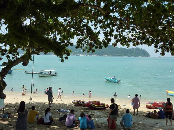 Pasir Bogak Beach Crowd