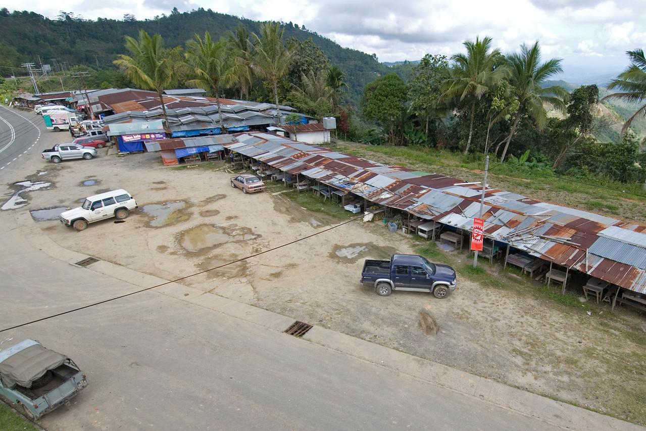 Overhead shot of a market near Mount Kinabalu - Sabah, Malaysia