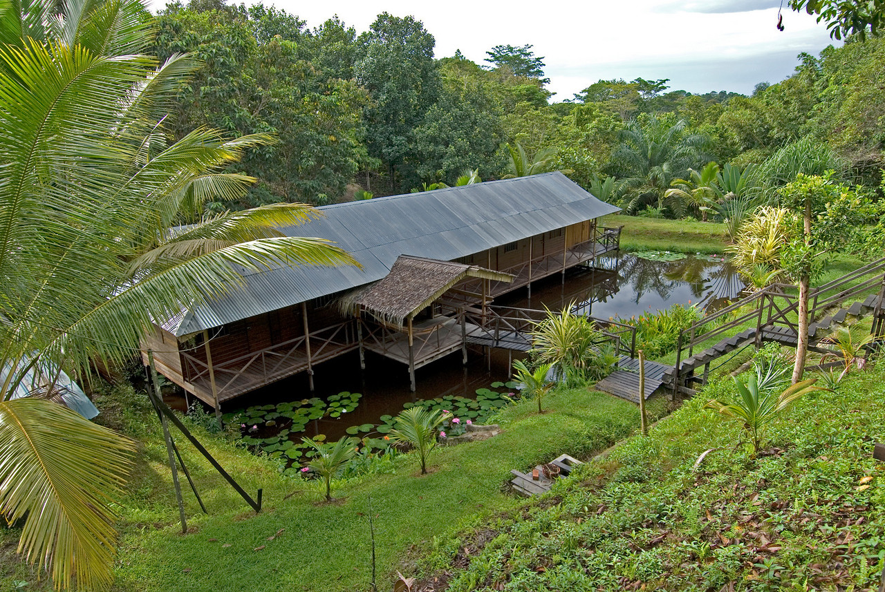 Wooden house at Tree Tops Lodge in Miri - Sarawak, Malaysia