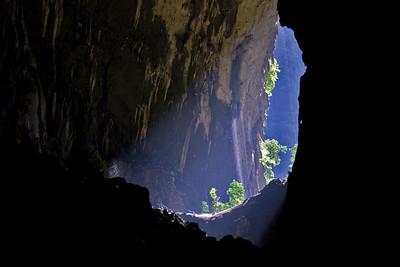 Light at the deer cave entrance at Mulu National Park - Sarawak, Malaysia