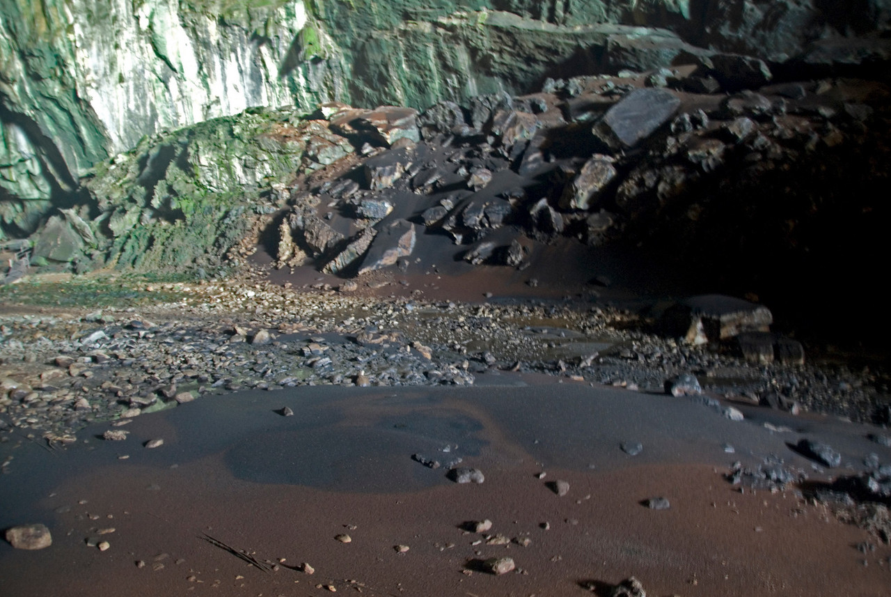 Guano Piles in Deer Cave at Mulu National Park - Sarawak, Malaysia