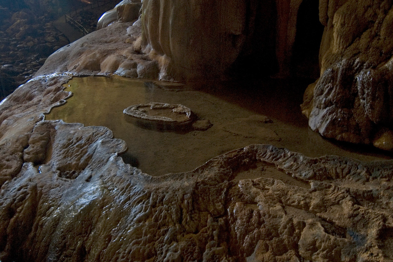 Unique water pool in Deer Cave, Mulu National Park - Sarawak, Malaysia