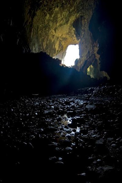 Light coming into the Deer Cave at Mulu National Park - Sarawak, Malaysia