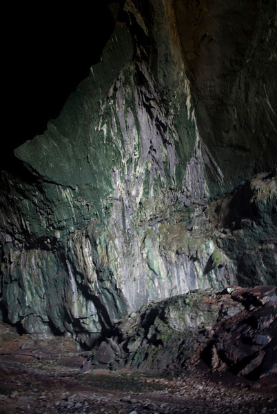 Inside Wall of Deer Cave ay Mulu National Park - Sarawak, Malaysia