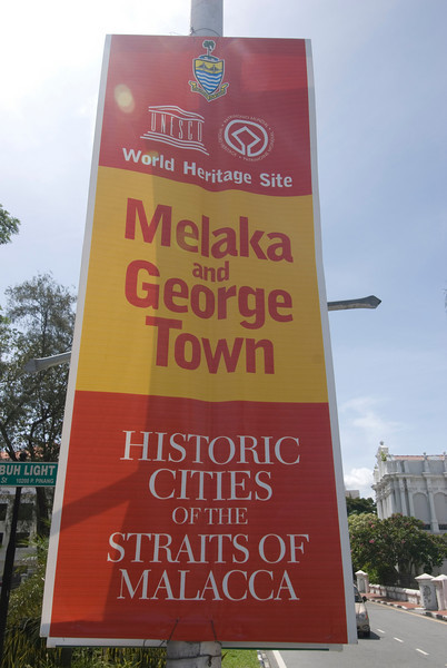 UNESCO World Heritage Sign in George Town, Penang, Malaysia