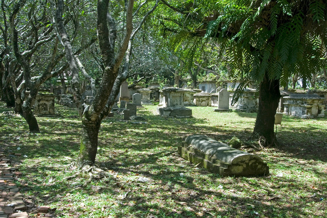Protestant Cemetary at day in George Town, Penang, Malaysia