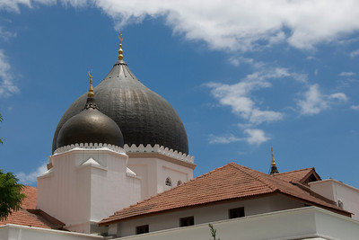 Twin domes atop a mosque in George Town, Penang, Malaysia
