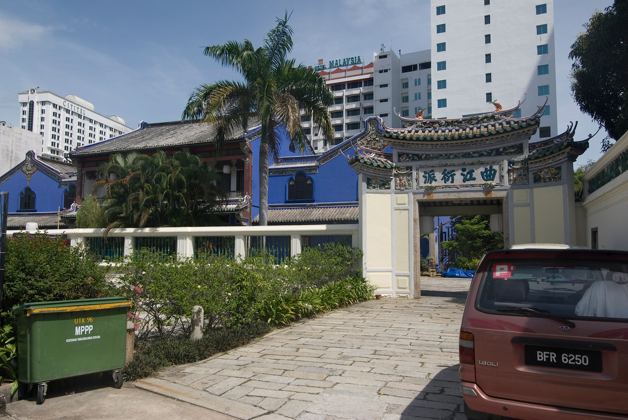 Front view of the Cheong Fatt Tze Mansion in George Town, Penang, Malaysia