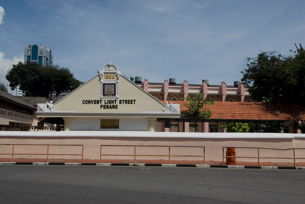 Light Street Convent building in George Town, Penang, Malaysia