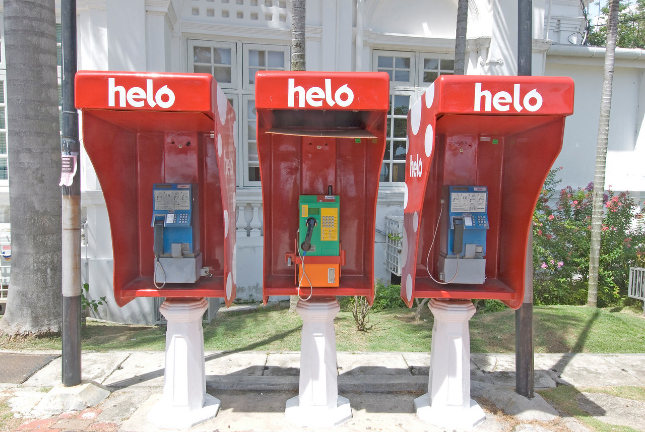 Telephone booths at George Town, Penang, Malaysia