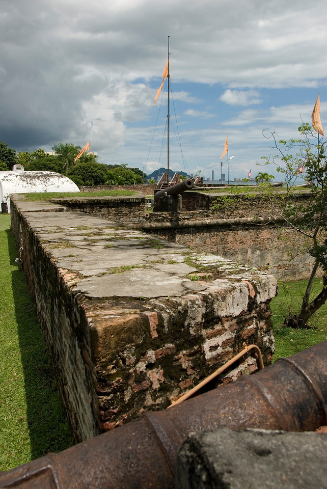 Details of view within the Fort Cornwallis Wall  - George Town, Penang, Malaysia