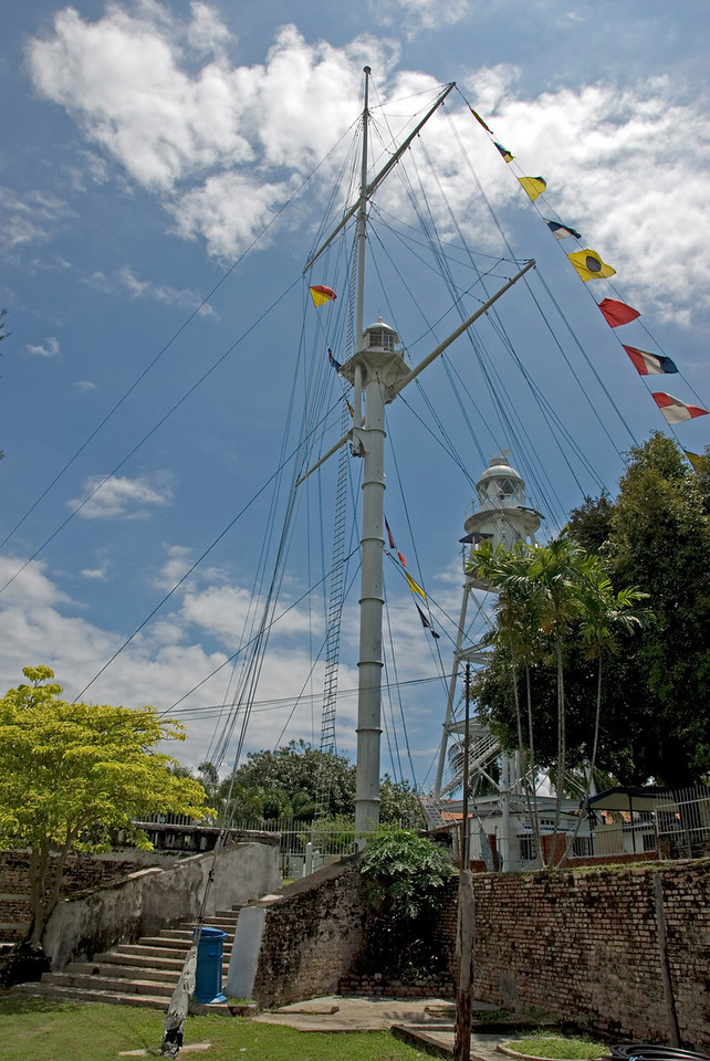 Mast with Flags at Fort Cornwallis - George Town, Penang, Malaysia
