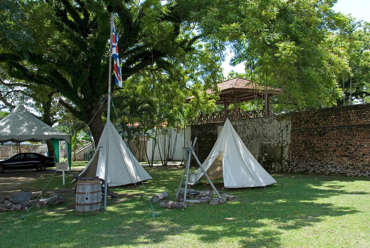 Tents put up at Fort Cornwallis - George Town, Penang, Malaysia