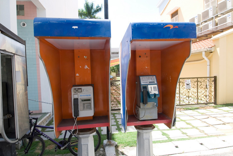 Telephone booths spotted in George Town, Penang, Malaysia