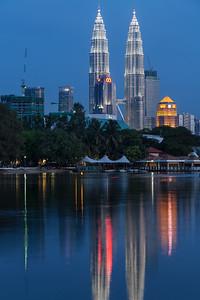 Petronas Twin Towers skyscraper. Kuala Lumpur, Malaysia