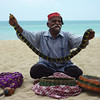 This guy at Batu Ferringhi in Penang, Malaysia claimed to be a snake charmer, but his snake didn't know how to dance.