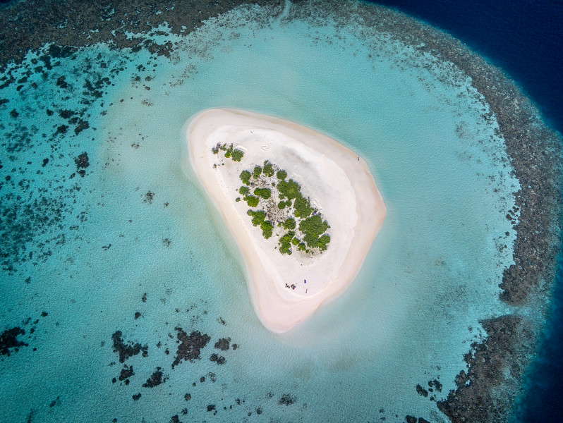 Drone photo of the Maldives
