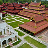 The overhead view of Mandalay Palace - worth the climb up!