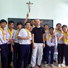 AS 817 - Vietnam, Ho Chi Minh City, Fr. Krzysztof Malejko SVD with participants of Sunday catechesis