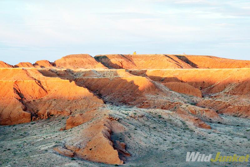 Cliffs at sunset