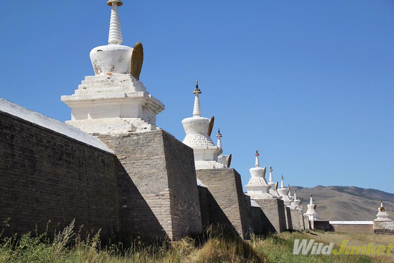 The first Buddhist monastery in Mongolia, Erdene Zuu