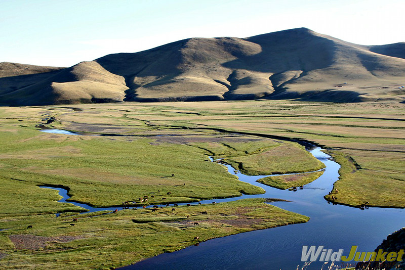 A spectacular view of the Orkhon Valley