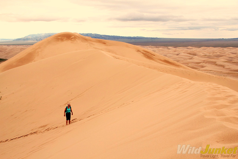 Looking down from the dune