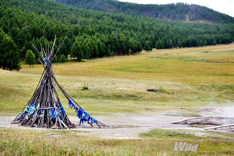 A Mongolian ovoo