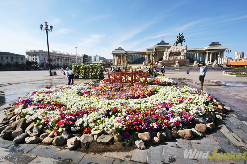 Flowers at Sukhbaatar square