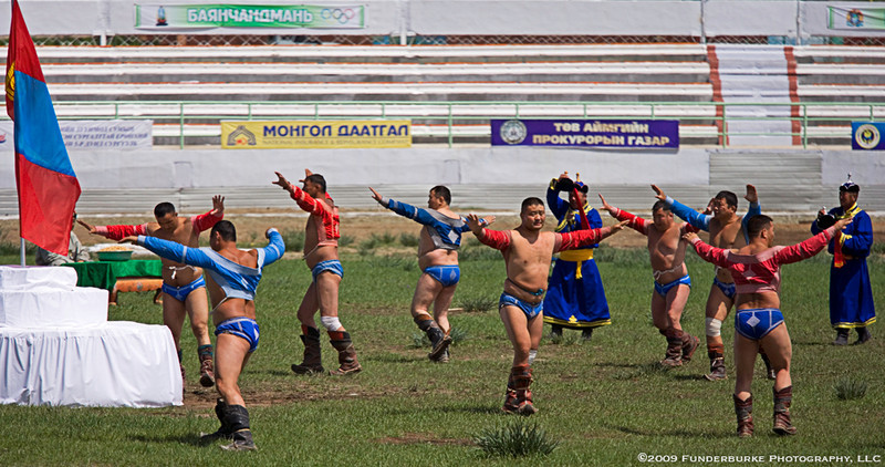 Wrestling Event Ceremony - Naadam