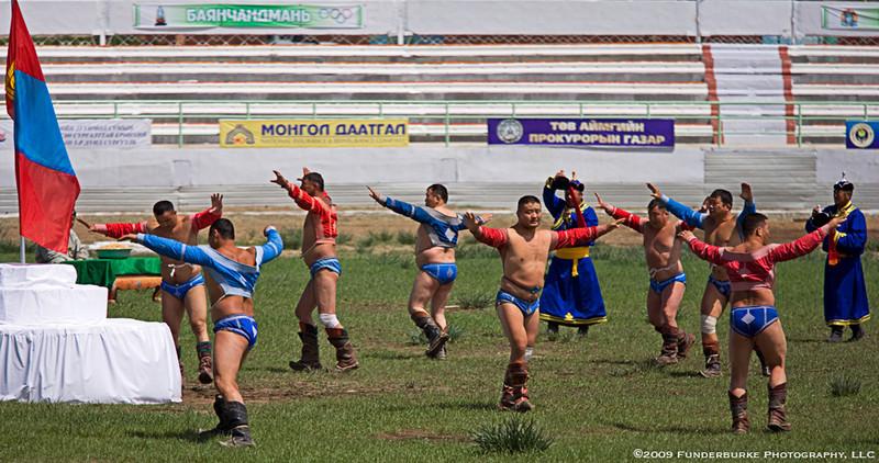 Wrestling Event Ceremony - Naadam