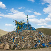 Rock Cairn with Darchor style Prayer Flags