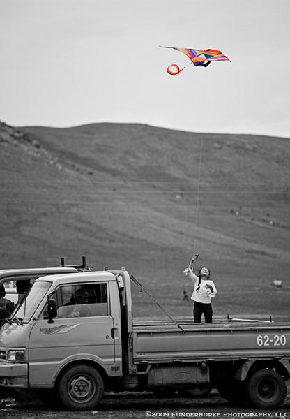 Kite Flying - local Naadam festival
