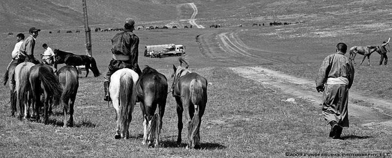 Heading Home - Naadam Festival