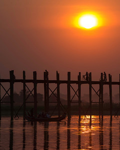 Ubein bridge, a famous landmark in Mandalay