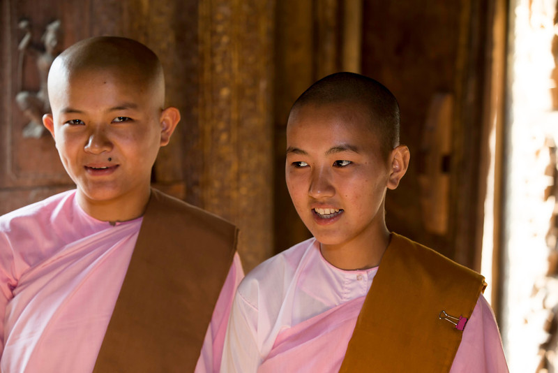 These two nuns were also visiting the temple.  Beautiful in their own way, but not deliberately posing for pictures.